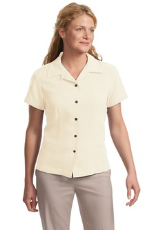 Port Authority® Ladies Silk Blend Camp Shirt