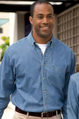 Port Authority® Long Sleeve Denim Shirt