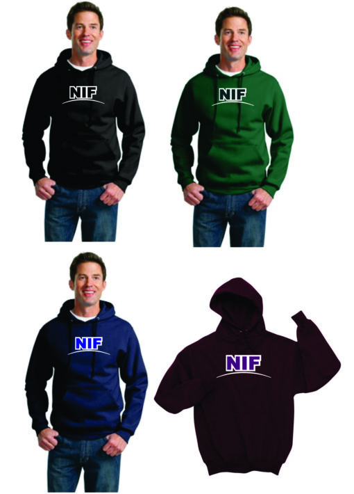 NIF Two Color Applique Hooded Sweatshirt