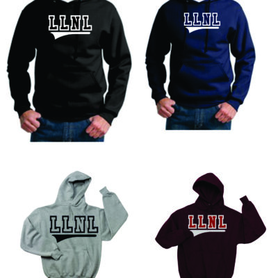 LLNL Two Color Applique Hooded Sweatshirt